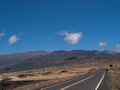 Mauna Kea (see prior photo for view to left).  Note road to mountain top. The peak is 13,789 feet.