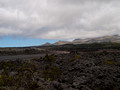 View as we approach Mauna Kea.  The rough lava flow is called a'a.