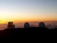 Hawaii - Mauna Kea observatories & sunset