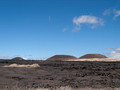 Old cinder cones.  The smooth lava flow.